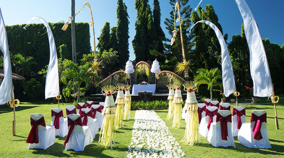 Bali Wedding Setup at White Rose Kuta Resort