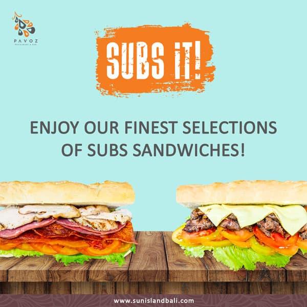 Sandwiches Pavos